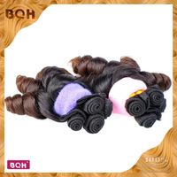 Newest and Popular Hair Style  Ombre Hair Extensions T#1B/4   Ombre Brazilian Hair Weave funmi hair romance curl 3pcs/lot