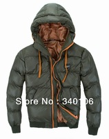 big size L-4XL 2013 new casual mens winter jackets and coats Fashion hooded fur collar men's fur lined wadded jacket parka