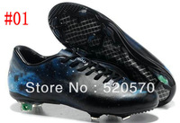 classic galaxy fg soccer shoes men outdoor cleats black blue good quality adult ball boots cheap us6.5-12size 3colors disscount