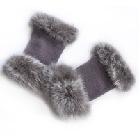 free shipping Winter thermal women's short design semi-finger wool gloves y015