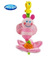 Free shipping! Baby Plush toys playgro bed hanging rattle car hanging rattle baby pink bee toys children's gift
