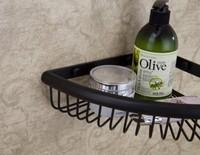 Oil Rubbed Bronze Bath Shelf Wall Mounted Cosmetic Holder Storage Basket
