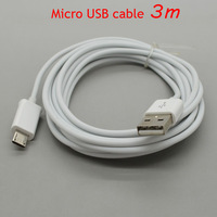 3M/10FT Micro USB data sync charging cable for Samsung I9300 I9100 N7100 HTC Nokia poly bag package Freeshipping