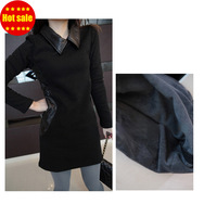 base shirt  winter dress  black girl Full dresses women new fashion 2013 party long dress