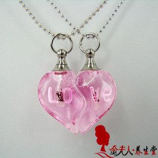 5pairs AMOR (cores sortidas), nome no arroz cristal frascos pingentes, frascos de perfume, frasco de cristal pingente, garrafas DIY(China (Mainland))