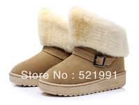 #05 2013 Hot Winter cheap supre warm women Snow Boot Fashion shoes coffee color