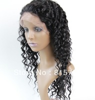 """1# Jet Black Deep Wave 100% Remy Hair  Lace Front wig for Black Women 10""""-20""""--In stock Color 1# 1b# 2# 4#"""