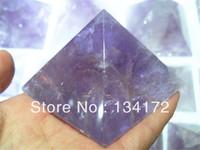 small natural amethyst  rock quartz pyramid for sale