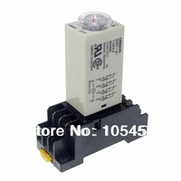 110VDC H3Y-4 Power On Time Delay Relay Solid-State 2~60Min,4PDT,14 Pins & Socket