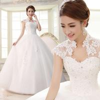Yarn lily 2013 wedding formal dress slim slit neckline bag lace strap married
