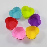 60pcs/lot free shipping Silica gel cake mould 7cm heart horse cup pudding jelly handmade soap mould cooking tools