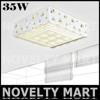 Retangle Acryl Crystal Ceiling Light 460mm 220V 35W LED Ceiling Lamp Modern Home Foyer Bedding Study Meeting Room Lighting