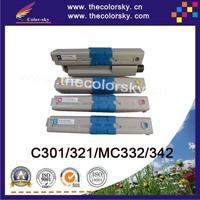 (CS-OC301) Color compatible toner cartridge for OKI 44973536 44973535 C301 C301DN C321 C321DN (2.2k/1.5k pages)
