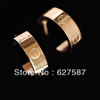 Free Shipping Orderunique Screw Starlets Rose Gold Titanium Brief Elegant Earrings Stud Earring Wholesale Lot Fashion Charms