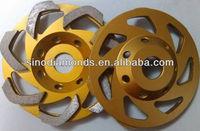 125mm L-shaped segment diamond grinding wheel for concrete and terrazzo