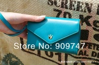 200pcs DHL free shipping Women's Multi Propose envelope Wallet Purse for iphone 4 4S 5 Galaxy S2 S3 Case card bag wallet
