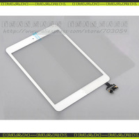 DHL/EMS/Fedex free For iPad Mini Touch Screen Digitizer Assembly with IC Connector HOME Button FLEX