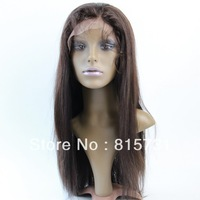 """2# Dark Brown Silky Straight 100% Remy Human Hair  Lace Front wig for Black Women 10""""-24""""--In stock Color 1# 1b# 2# 4#"""