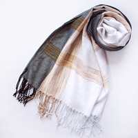 2014 free shipping  Folk tourism  bask in color matching stripe towel jacquard scarf long scarf  fashion wholesale personality