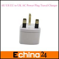 40 Pcs/Lot Universal EU US AU to UK AC Travel Power Plug Charger Adapter Converter Travel Adaptors UK Free Shipping