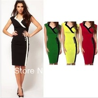 2014 NEW WOMEN LADY SEXY V-Neck bodycon DRESS xl xxl OL