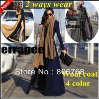 Woolen outerwear coats plus size winter coat new 2014 cashmere coats and jackets for women autumn wool coat long tweeds overcoat