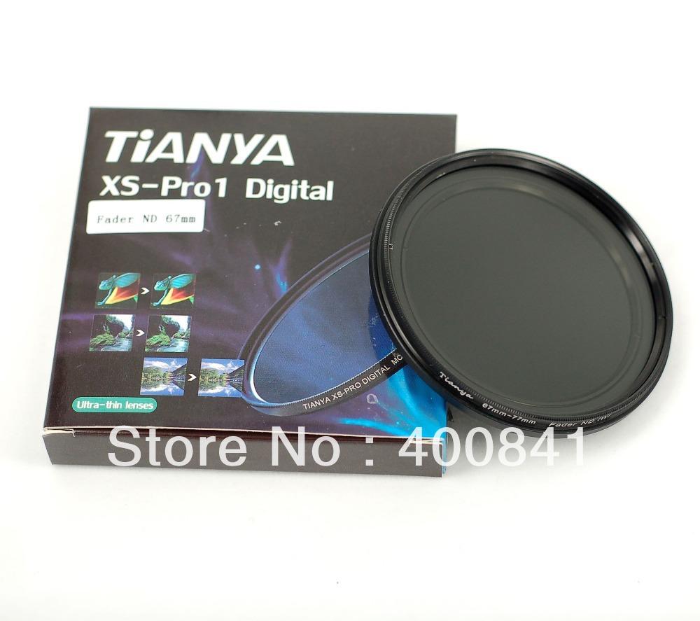Фильтр для фотокамеры TIANYA 67 67 1D xs/pro ND ND2 ND4 ND8 ND16 ND32 ND400 Fader ND neutral density nd2 nd400 fader nd filter 72mm