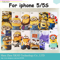 Hard Cartoon Despicable Me minion Case for Iphone 5 5S Cover i Cell phone Cases for iphone5 covers 200pcs/lot DHL free shpping