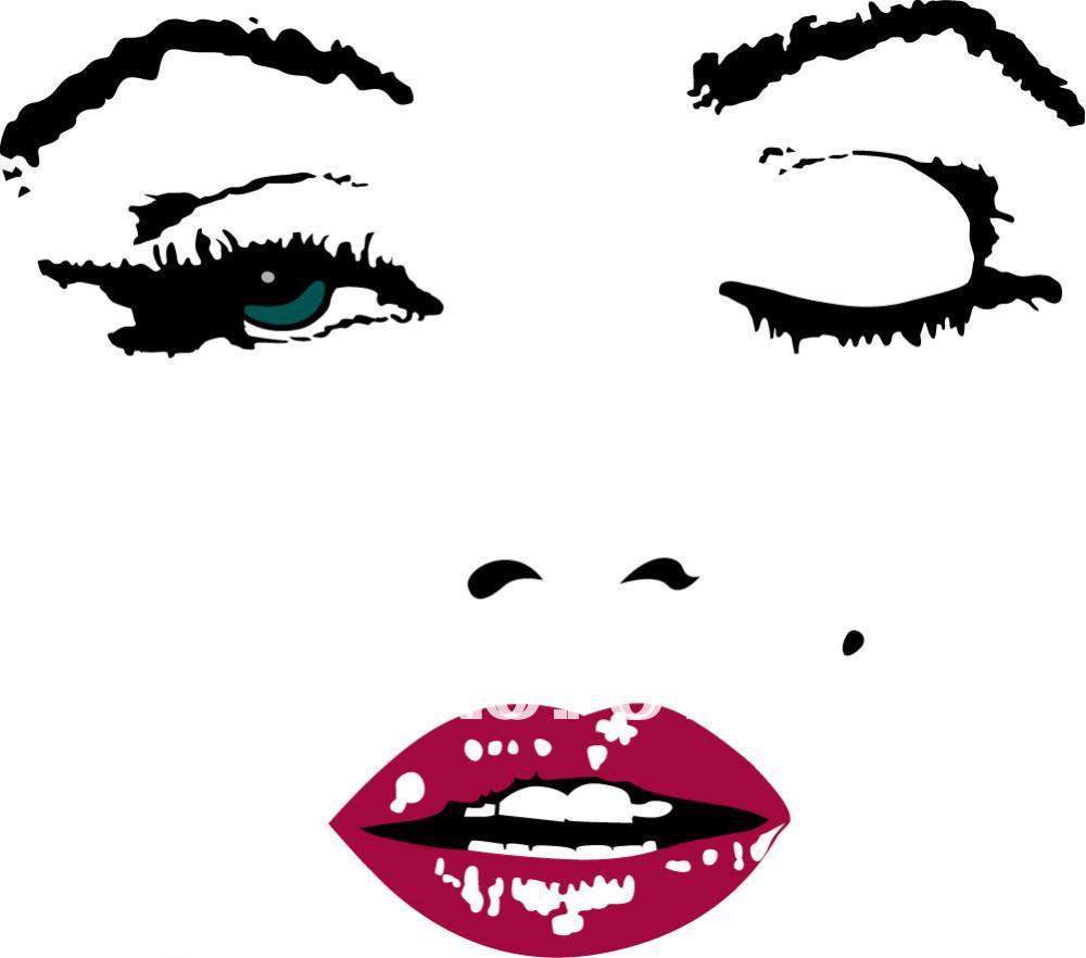 마릴린 먼로 벽 예술 소녀 유화 거실 벽 사진-에서크기: inch24*24 ...