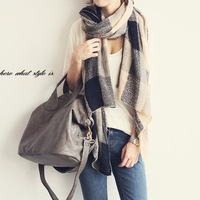 2013 autumn winters day han edition of the new super long warm plaid scarves wholesale both men and women double use shawl