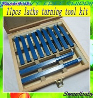 brazing carbide lathe tool/ 11 pc 10mm*10mm  Lathe tool kit  cutter /tipped turning tool /cutting tool