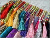 mix 50pair/lot Woven damask dragon and phoenix chopsticks wedding chopsticks paragraph tassel free shipping