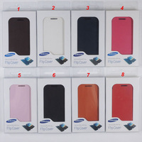 Original Design Battery Housing Case Leahter Flip Cover for Samsung Galaxy Ace S5830 with Retail Package