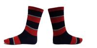 SWODART 2014 Promotion price! men wholesale manufacturer of business stripe socks, summer short socks 3 pairs/lot  - Red