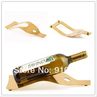 1pc Gold Plated Red Wine Bottle Single Rack & Stand for Home or Commercial Use K2317
