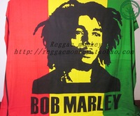 Reggae bob marley valance curtain bed sheets decoration cloth