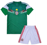 2014 Brazil World Cup Mexico Home Jersey 2014 Mexico Home Top thai quality Jersey soccer jersey free shipping