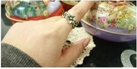 Lovely Retro Chrysanthemum Shaped Ring Gold HD11110308 Sent from Russia
