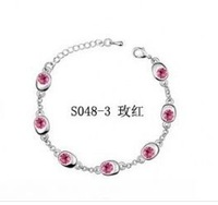 Charming Rhinestone Inlaid Bracelet Rose HD12082202-2 Sent from Russia