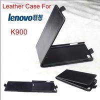 2014 New k900 Free Shipping Original Lenovo K900 Leather smart flip Case Lenovo K900 Case