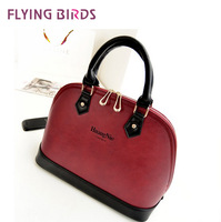 FLYING BIRDS! 2014 New arrive European and American big shell messenger bag  women leather handbags LS1227