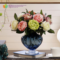 Short rose artificial flower artificial flower decoration flower