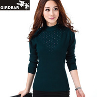 free shipping 2013 women's cashmere sweater female slim women's turtleneck sweater basic shirt