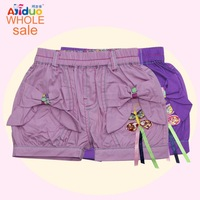 New Brand Summer Children's Clothing Baby Girl Denim Shorts Baby Pants Trousers With Printed Bow  Free Shipping