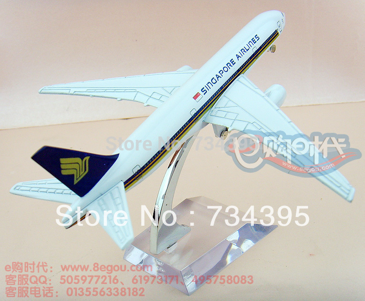777 Singapore 16cm metal alloy aircraft model aircraft toy planes toy collection souvenir gifts vehicles 16cm(China (Mainland))