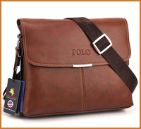 Promotion Polo Genuine Leather Men Messenger Bags Men's Bags High Quality Designer Man Brand Leather Bag IPAD Computer Bag