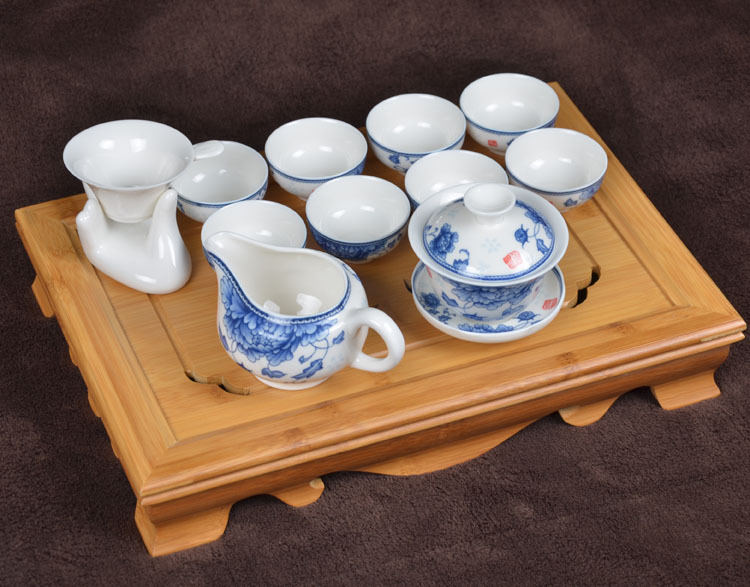 New Arrival Free shipping special grade Ceramic Kung Fu Tea Sets Eleven pieces set suit for