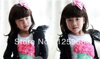 Freeshipping!2013 Wholesale 24pcs/lot New Cute Baby Solid Color Bows Hair Clips Princess Hairclips Kid's Hair Accessories