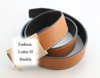 Fashion Gold Buckle Candy Colour PU Leather Belt Waistband