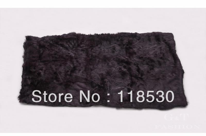 Free shipping 2014 Genuine Rabbit Fur fur blanket carpet cushion cover mat rug banquet(China (Mainland))